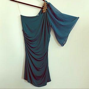 One shoulder bodycon Green Dress